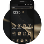 3d simple business black gold melting point theme 1.1.2 APK