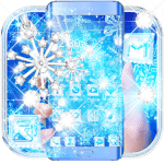 Blue Snow Flake Diamond Theme 1.1.2 APK
