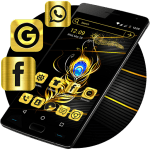 Gold Feather Launcher Theme 2.1 APK