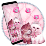 Lovely Cute pink Cat Theme 1.1.4 APK