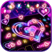 Neon Lights Heart Keyboard Theme